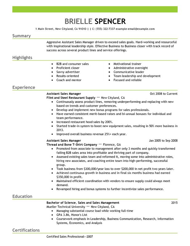 business banking sales resume