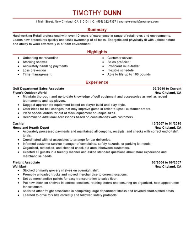Impactful Professional Retail Resume Examples & Resources