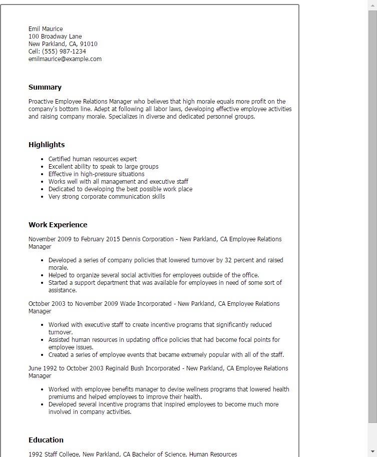 Developing A Strong Resume