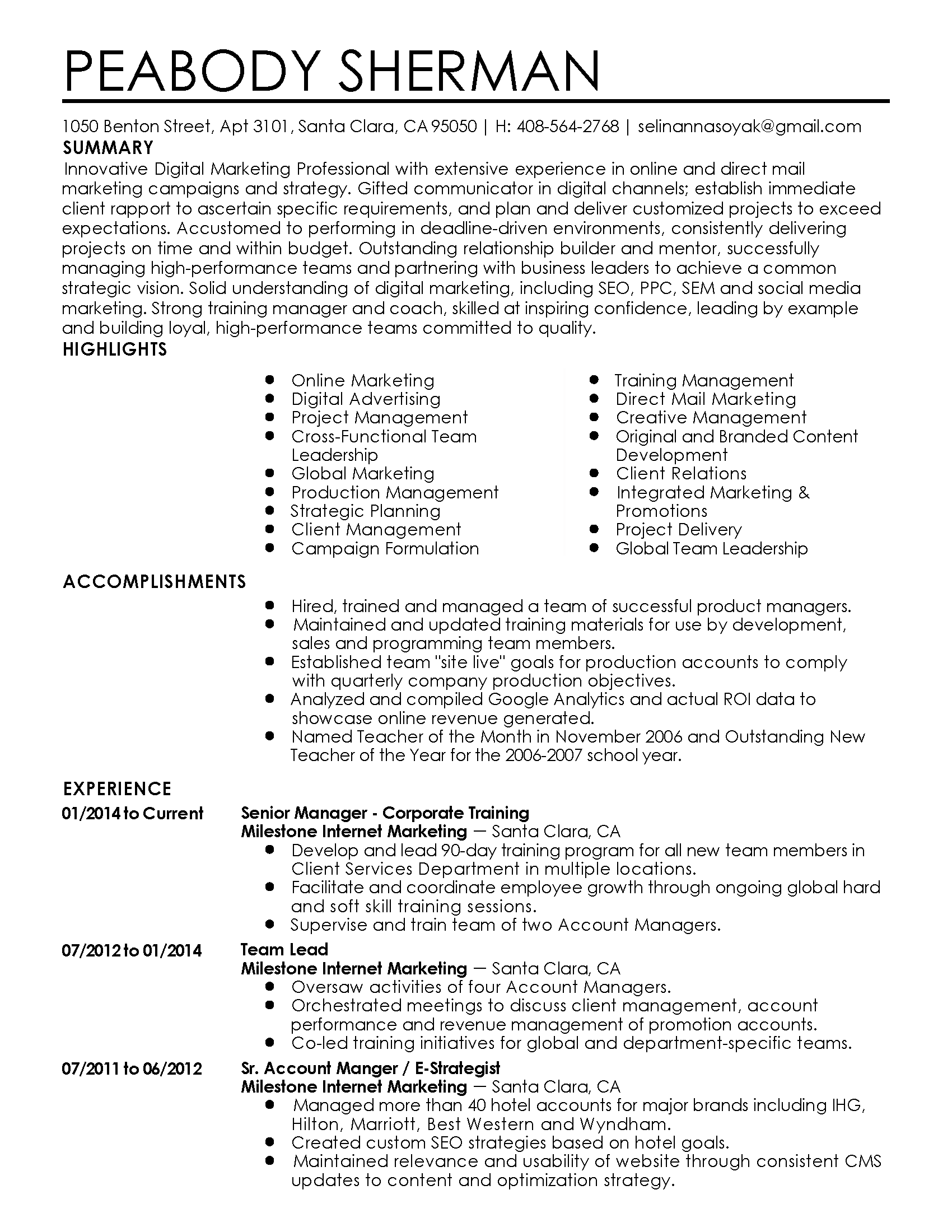 Delivering Projects On Time And Within Budget Resume