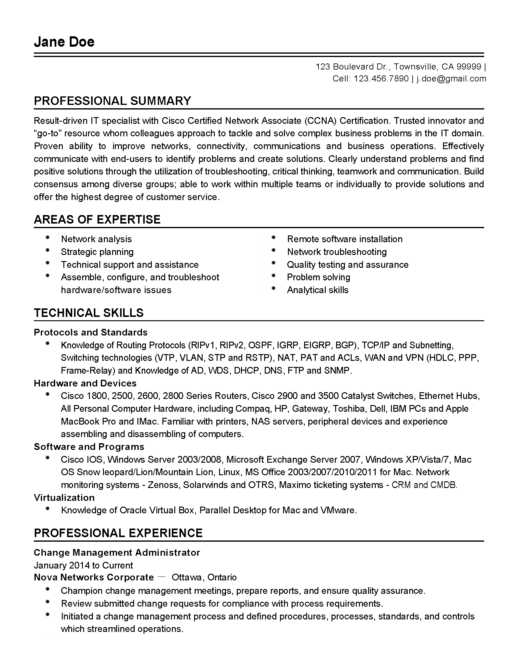 Professional Change Management Administrator Templates to Showcase ...